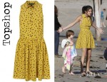 Selena Gomez' Topshop Daisy Dogs Shirtdress