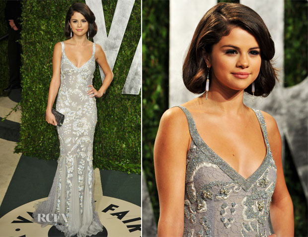 c118259b Selena Gomez In Dolce & Gabbana - 2012 Vanity Fair Oscar Party - Red ...
