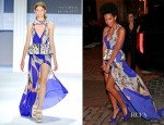 Solange Knowles In Vera Wang - Runway To Win Launch Event