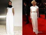 Tilda Swinton In Celine - 2012 BAFTA Awards