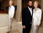 Tilda Swinton In Lanvin - Pomellato Boutique Opening