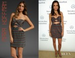 Torrey DeVitto's Mara Hoffman Twist Strapless Dress