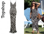 Vanessa Hudgens' Topshop Unique Hieroglyphic Piped Maxi Dress