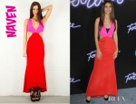 Victoria Justice's Naven Two Tone Vixen Dress