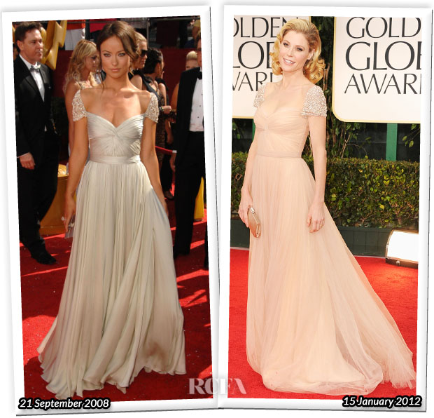 7de1dfe9221 Who Wore Reem Acra Better  Olivia Wilde or Julie Bowen - Red Carpet ...