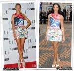 Who Wore Mary Katrantzou for Topshop Better? Poppy Delevigne or Alesha Dixon