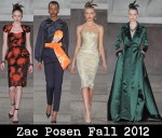 Zac Posen Fall 2012