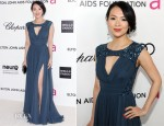 Zhang Ziyi In Elie Saab - Elton John's AIDS Foundation Academy Awards Viewing Party