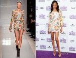 Zoe Saldana In Balmain - 2012 Independent Spirit Awards