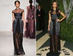 Zoe Saldana In Marios Schwab - 2012 Vanity Fair Oscar Party