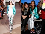 Zoe Saldana In Prabal Gurung - Front Row @ Prabal Gurung Fall 2012