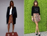 Alexa Chung In Bella Freud & Celine - British Designers Collective Launch at Bicester Village