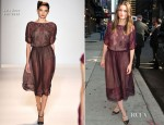 Amanda Peet In Lela Rose - Late Show With David Letterman