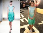 Amandla Stenberg In Collette Dinnigan - 'The Hunger Games' LA Premiere