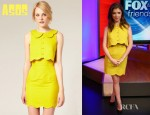 Anna Kendrick's ASOS Pique Chelsea Scalloped Shift Dress