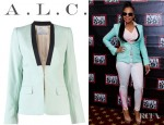 Ashanti's A.L.C. Zoe Blazer And Rag & Bone Denim Leggings