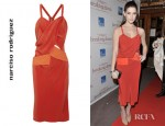 Ashley Greene's Narciso Rodriguez Cutout Crepe Dress