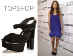 Ashley Madekwe's Topshop Podium Cross Over Platforms Sandals