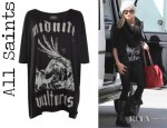 Ashley Tisdale's All Saints Midnite Vultures T-shirt