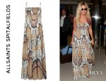 Ashley Tisdale's All Saints Ikat Maxi Dress