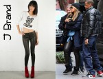 Beyonce Knowles' J Brand Leather Super Skinny Leggings