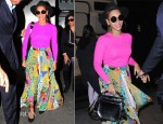 Beyonce Knowles In Michael Kors, Etro & Alexander Wang