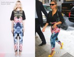 Beyonce Knowles In Stella McCartney Hawaiian-Print Pants