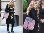 Blake Lively's Jimmy Choo Lara Shoulder Bag & Marc by Marc Jacobs Commuter Bag