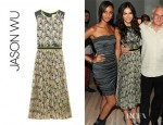 Camilla Belle's Jason Wu Floral Chiffon Pleated Dress