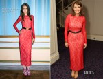 Carol Vorderman In Alessandra Rich - The TRIC Awards 2012