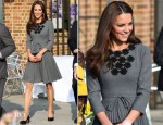 Catherine, Duchess of Cambridge In Orla Kiely - The Prince's Foundation for Children and The Arts