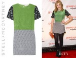 Chloe Moretz' Stella McCartney Hopper Printed Silk Mini Dress