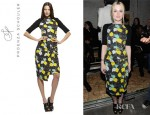 Dakota Fanning's Proenza Schouler Neoprene Leaf Dress