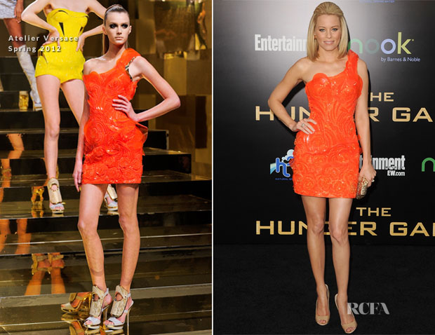 45b2ae12639 Elizabeth Banks In Atelier Versace –  The Hunger Games  Premiere. Elizabeth  Banks ...