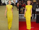 Elizabeth Banks In Bill Blass - 'The Hunger Games' London Premiere