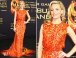Elizabeth Banks In Elie Saab - 'The Hunger Games' Berlin Premiere