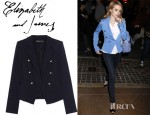 Emma Roberts' Elizabeth and James Sue Stretch Wool Twill Jacket