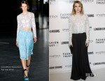 Emma Roberts In Jonathan Saunders - LONDON Show ROOMS Cocktail Party