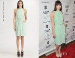 Felicity Jones' Proenza Schouler Silk Dress