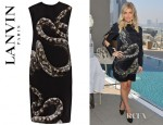 Fergie's Lanvin Snake Print Dress