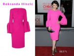 Ginnifer Goodwin's Roksanda Ilincic Margot Lantern-Sleeve Wool-Crepe Dress