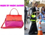 Heidi Klum's Marc by Marc Jacobs Bob's Memphis Two Tone Leather Tote