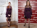 Hilary Swank In Salvatore Ferragamo –  ''The Saint Anne,' Leonardo Da Vinci's Greatest Masterpiece' at Musee du Louvre