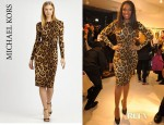Jennifer Hudson's Michael Kors Leopard Print Dress