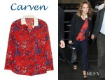 Jessica Alba's Carven Printed Cotton Voile Shirt