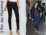 Kristen Stewart's 7 For All Mankind Skinny Denim Leggings And Stella McCartney Falabella Tote