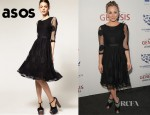 Kaley Cuoco's ASOS Midi Mesh Spot Dress