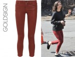Katharine McPhee's Goldsign Thrill Mid Rise Cropped Skinny Jeans