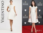 Katharine McPhee's Valentino Silk And Cotton Dress