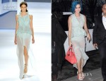 Katy Perry In Vera Wang - Hyatt Hotel